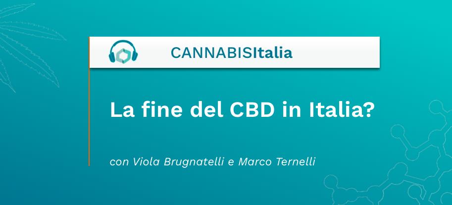 La fine del CBD in Italia - Cannabis Italia - Cannabiscienza - Sito